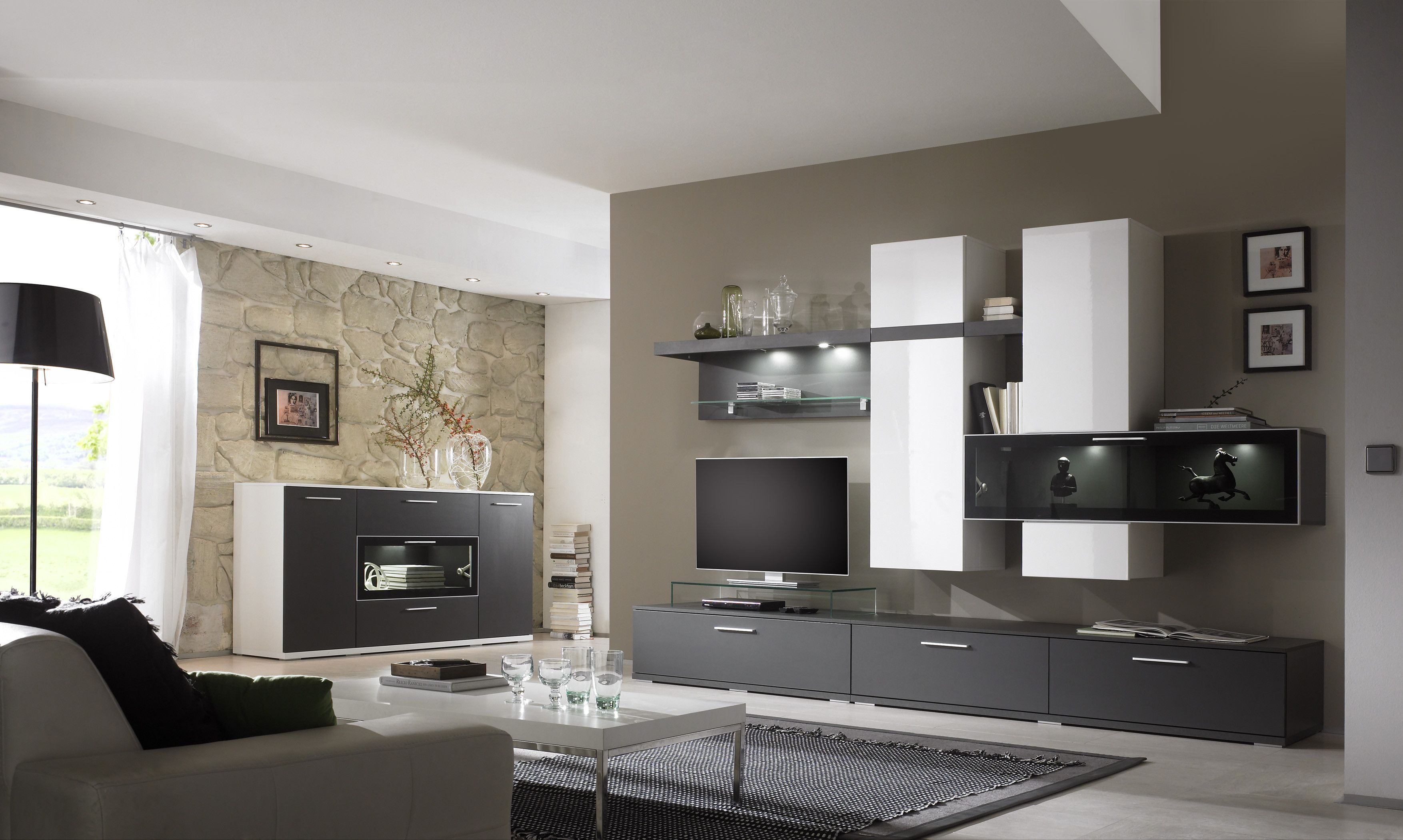 moderne wohnzimmer farben  WANDFARBE WOHNZIMMER  Pinterest  Bedrooms and Interiors