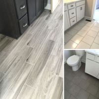 More recent floor tile installs! | Wood Tile | Concrete ...