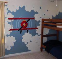 Mural of Plane, Plane Mural, DIY Mural, Kids Airplane ...