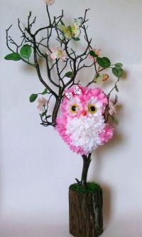 owl baby shower centerpiece 3