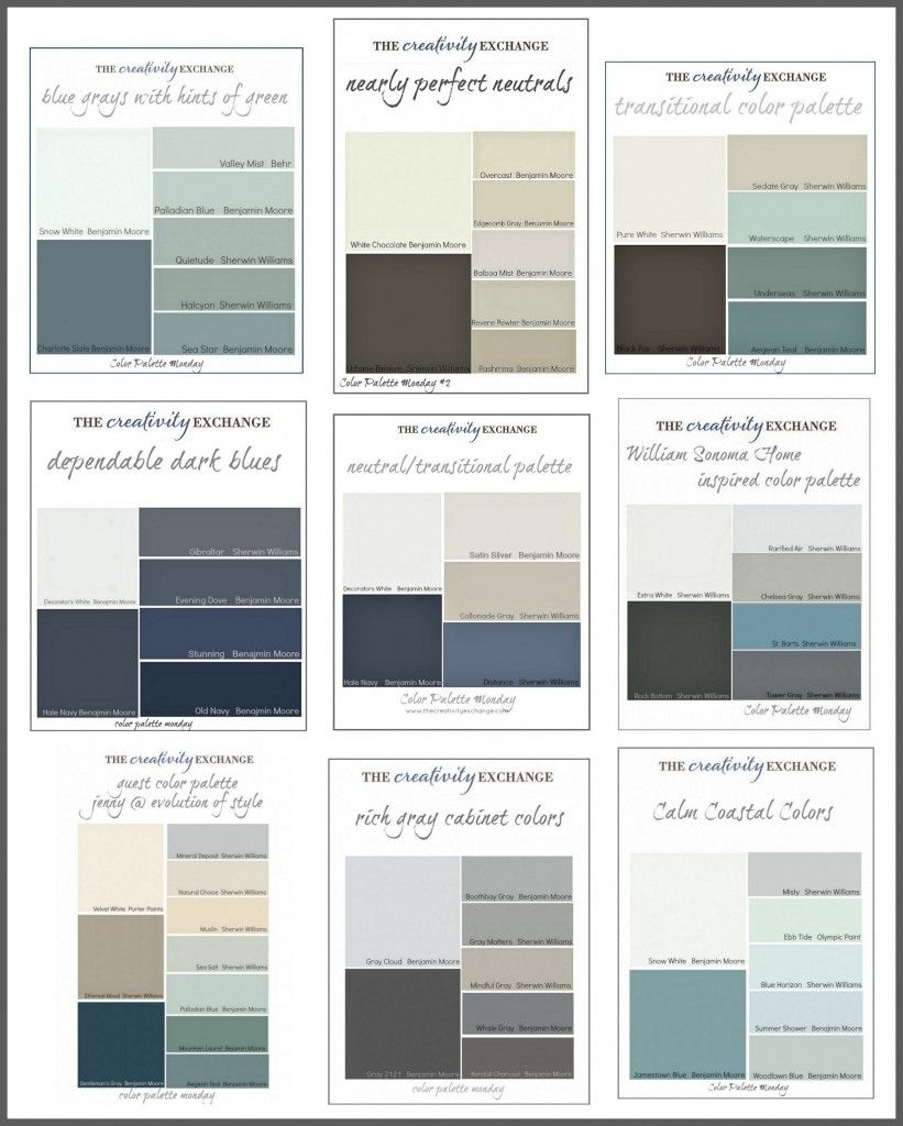 Paint Color Palettes on Pinterest  Warm Gray Paint Neutral Paint Co