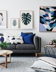 Bold pictures add drama to  living room and can also tie together colour theme rh pinterest