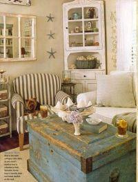 Rustic cottage living room!