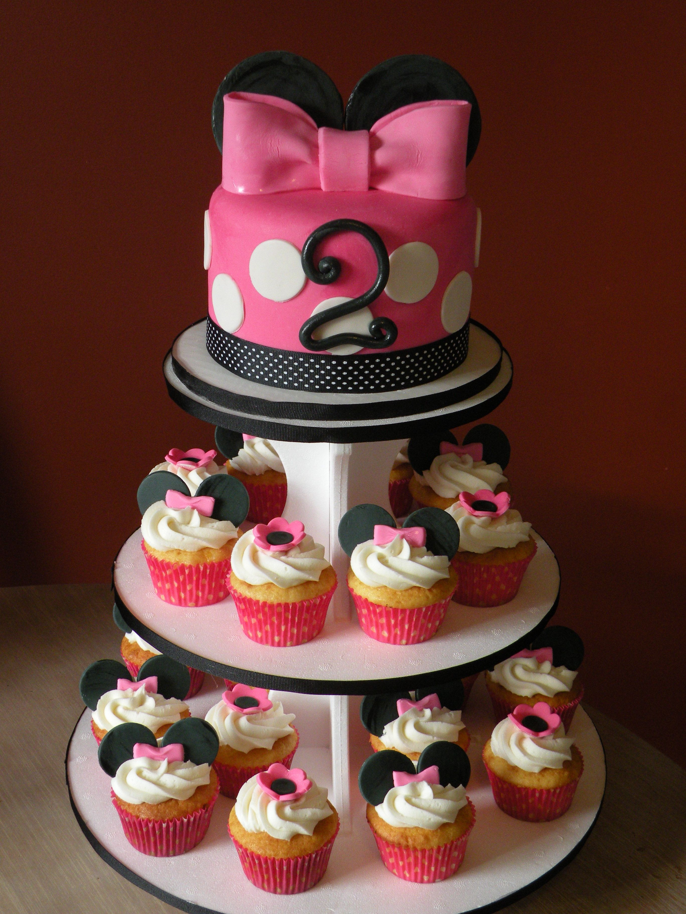 2nd Birthday Party Ideas Minnie Mouse Cake Amp Cupcake