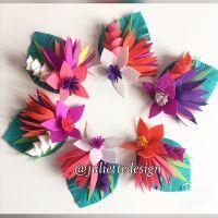Napkin Ring, Felt Tropical Flowers, Tropical Wedding Decor ...
