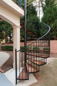 Exterior spiral stairs add a modern flair to your multi ...