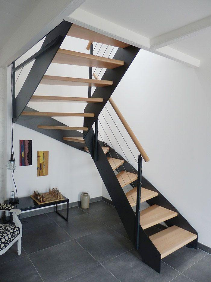 le IRUS  escalier moderne avec un limon classique mtallique Escaliers POTIER  Escaliers