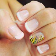 wedding anniversary nails. shellac