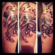 love cosmetology tattoo short