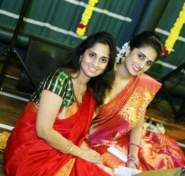 Shalini Kumar With her Sister Shamili in Silk Saree