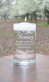 Memorial Candle - Here Comes the Bride White ...