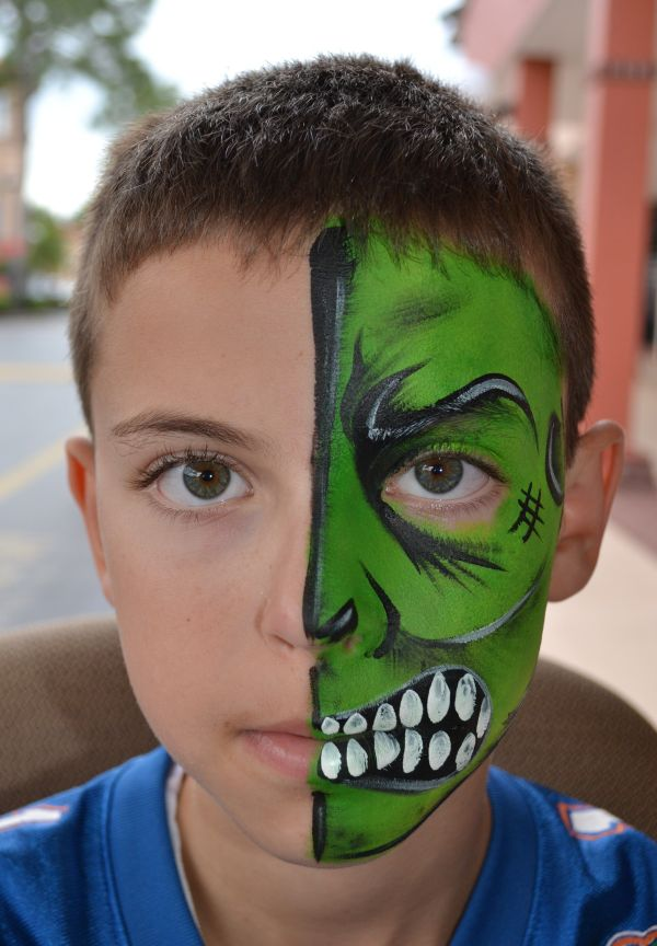 Boy' Face Painting Design Http