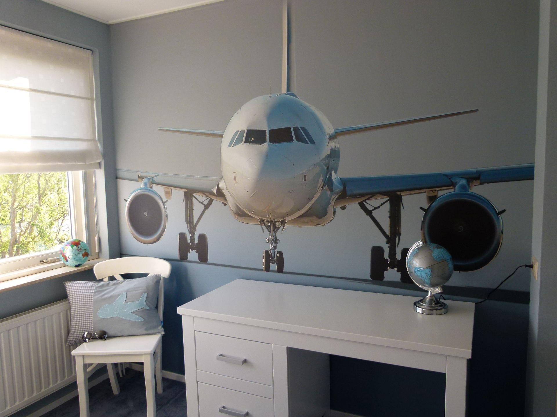 Vliegtuig kinderkamer jongenskamer behang  Kinderkamer