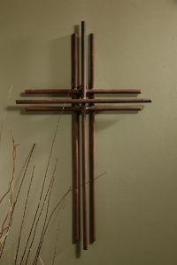Three Layered Iron Wall Cross - 4' | Wall crosses, Iron ...