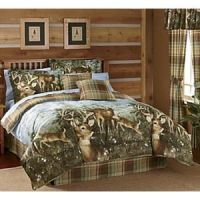 hunter comforter set | ... DEER-BUCK-Cabin-Hunting-Lodge ...