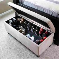 ottoman shoe storage bench | For the Home | Pinterest ...