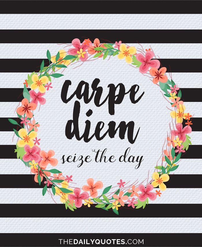Phone Wallpapers Quotes Carpe Noctem Carpe Diem Seize The Day Thedailyquotes Com Words