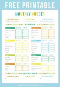 25+ einzigartige Printable budget worksheet Ideen auf ...