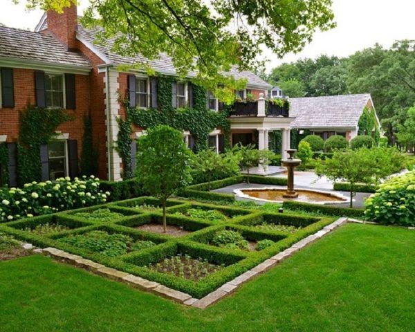 Square Garden Patio Landscape Gardening Pinterest Gardens