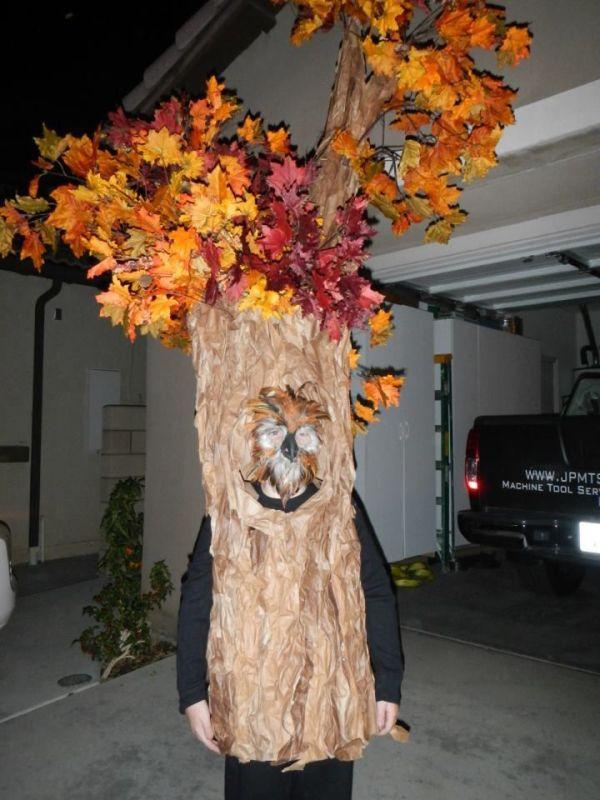 Homemade Tree Costume Childhood