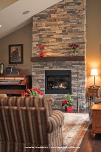 stone around fireplace!