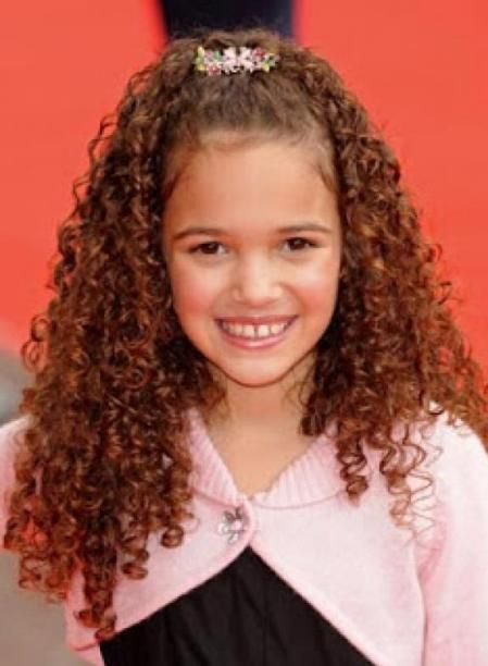 Tight Curly Hairstyle For Luttle Girls Kids Hairstyles