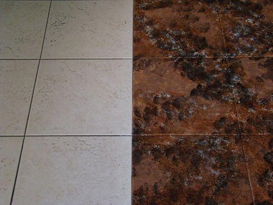 staining tile floors
