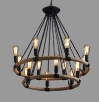 Large Industrial Farmhouse Ceiling Lamp Chandelier ...
