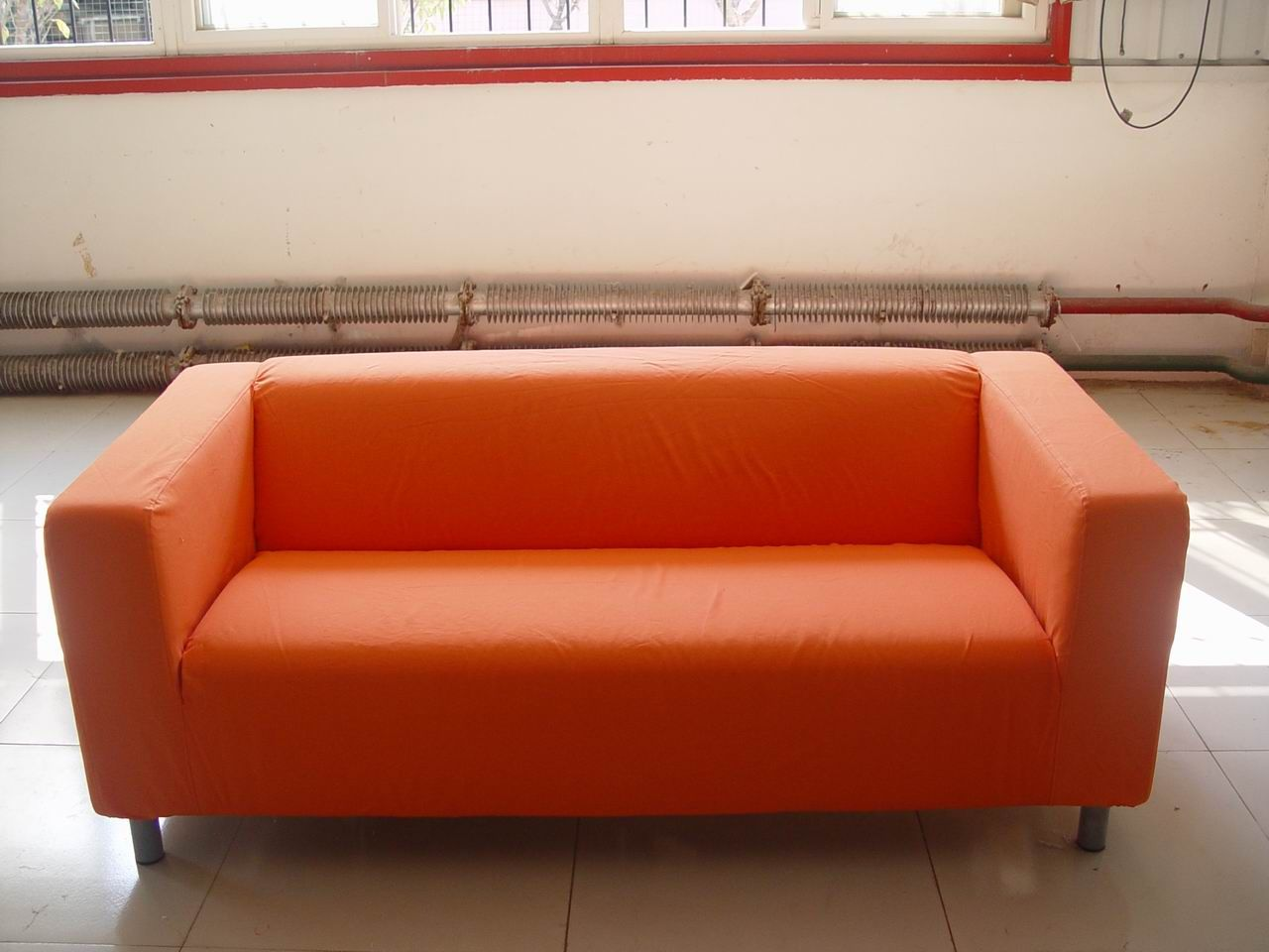 ikea klippan sofa cover red marge carson scarlett 100 cotton canvas fabric jpg 1280