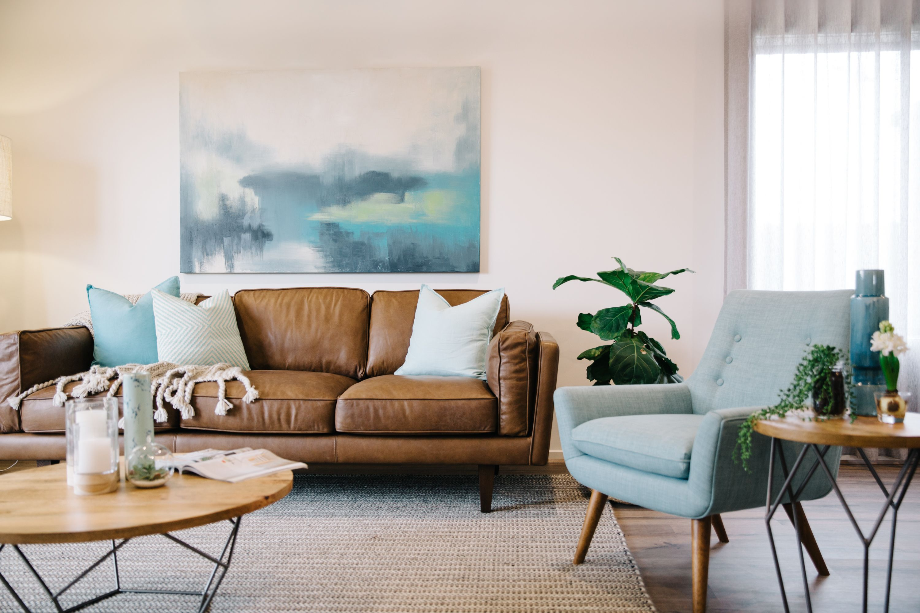light blue sofa decorating ideas flexsteel crosstown leather reviews freedom au services decorator interior