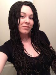 white girl braids microbraids micro