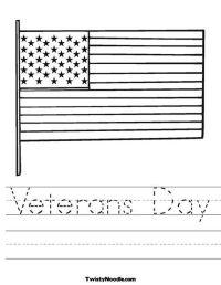 Veterans Day Worksheet from TwistyNoodle.com | Preschool ...