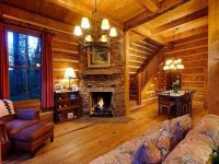 One Room Cabin Decorating | Living Room Fireplace: Cozy ...