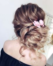 beautiful loose updo wedding hairstyles