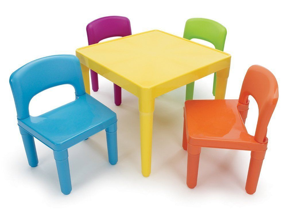 Kids Table and 4Chair Set Children Daycare Child Activity