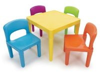 Kids Table and 4-Chair Set Children Daycare Child Activity ...