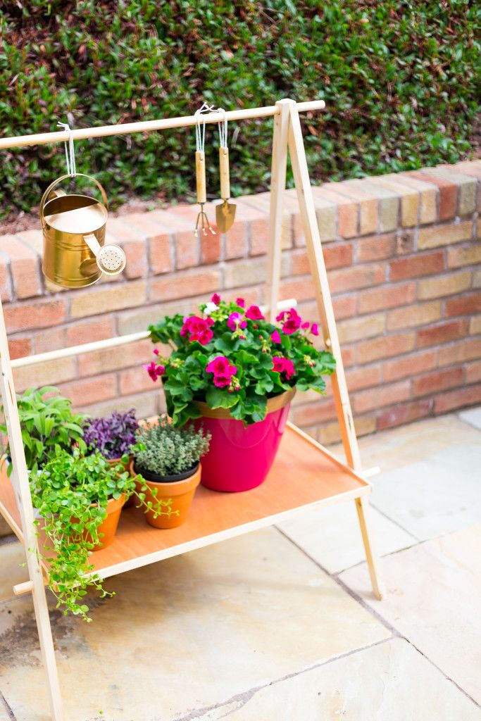 DIY Ladder Plant Stand For Making A Compact Garden Gardens