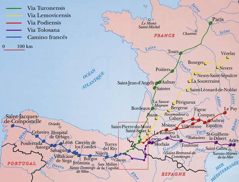Vezelay France Map.Vezelay France Pilgrimage Map