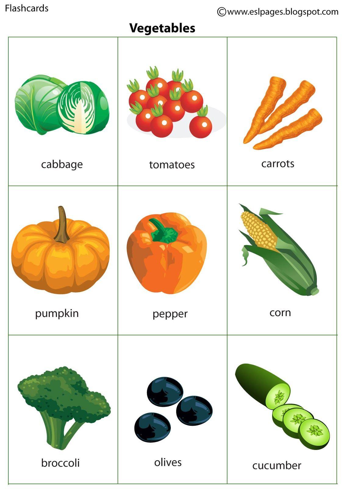 Esl Pages Vegetables