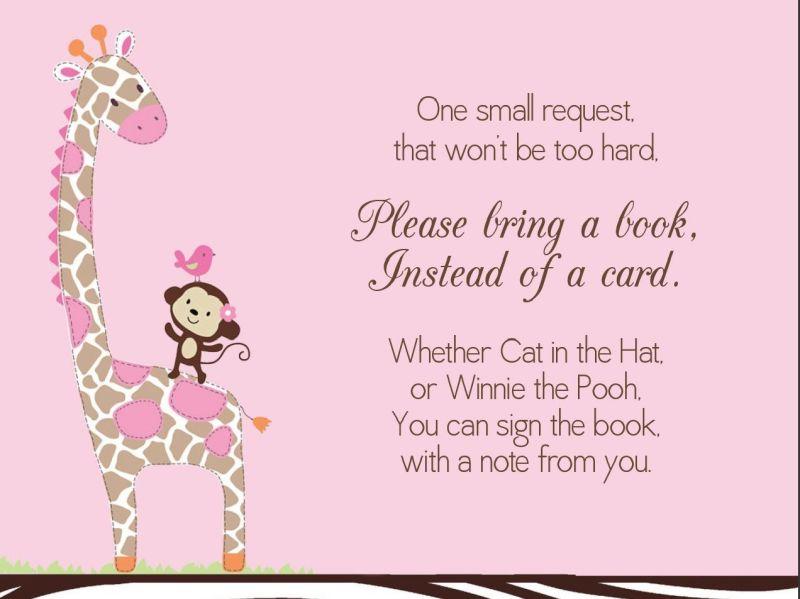 Bring a book instead of a card what a wonderful idea one