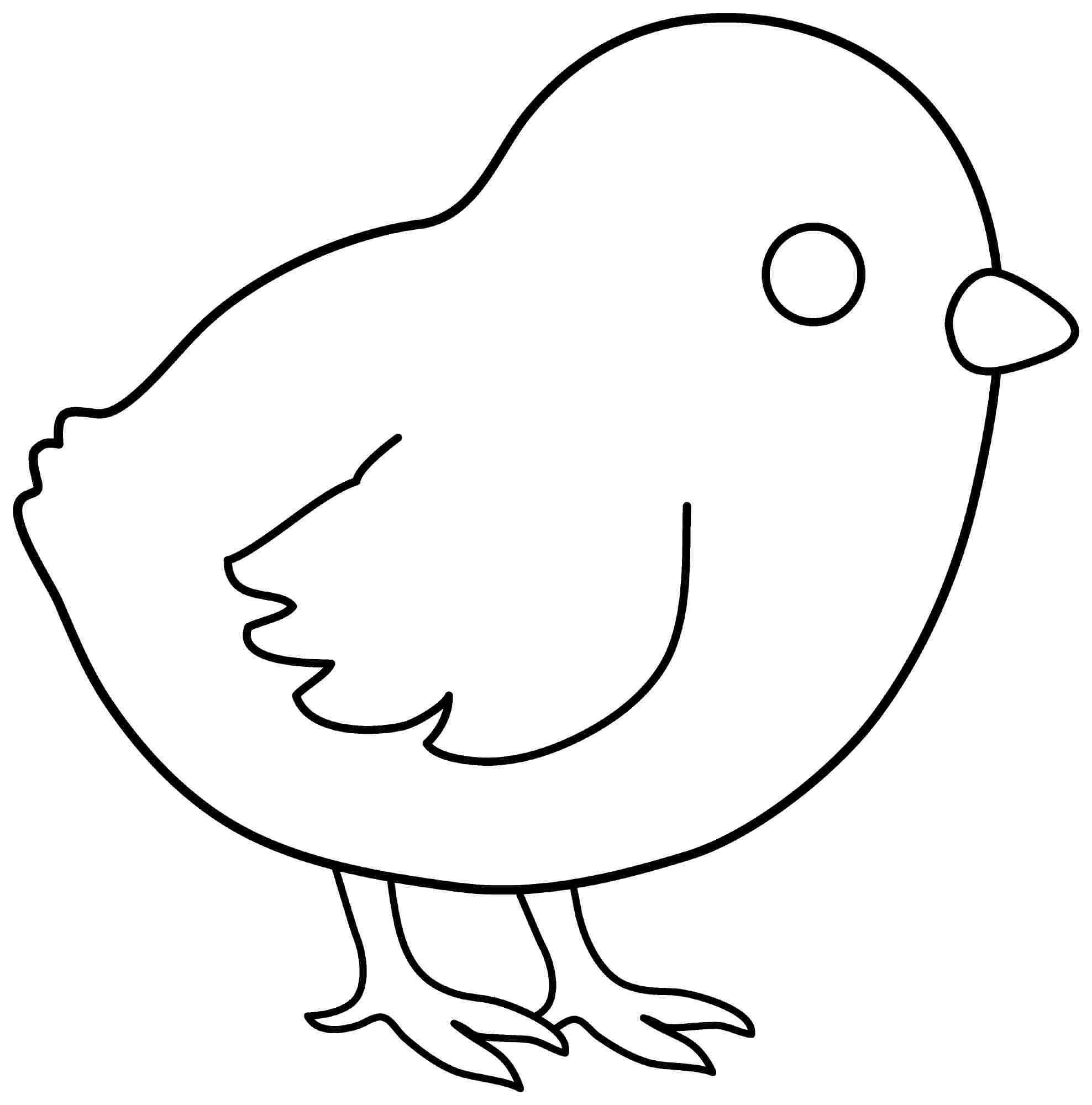 Printable Colouring Sheets Animal Chicken For Kids & Boys