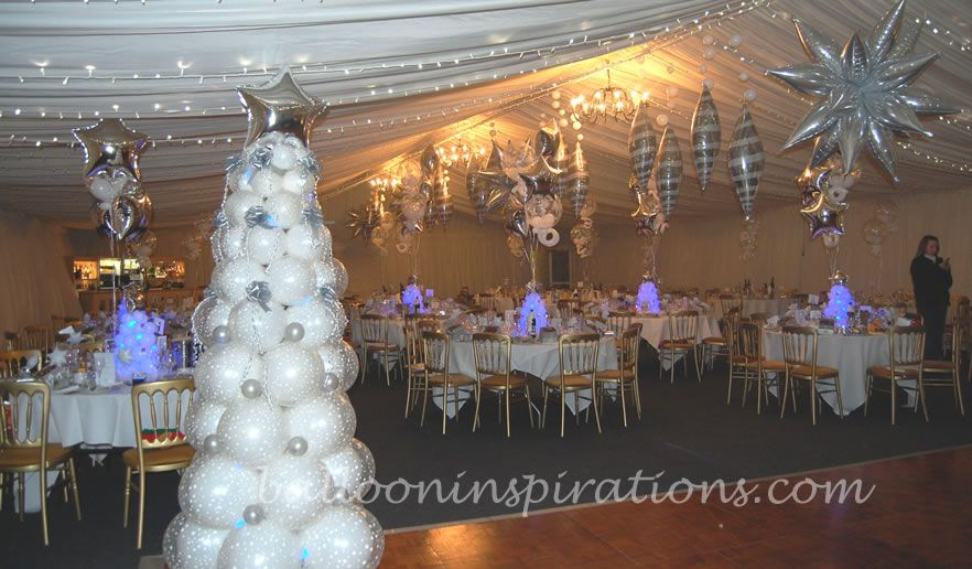 winter wonderland party decorations themed christmas party ballooninspirations com