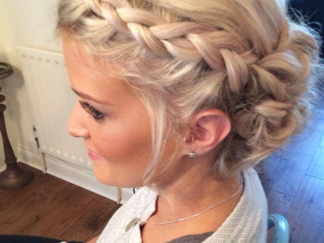 wedding hair priory cottages bridal updo plait plaits braid braids