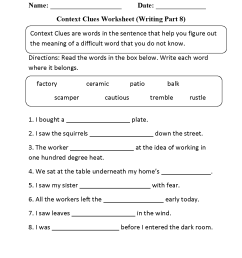 Context Clues Worksheets 6th Grade   Printable Worksheets and Activities  for Teachers [ 1650 x 1275 Pixel ]