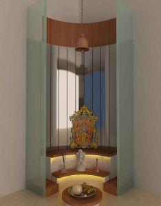 Pooja room by kamlesh maniya interior designer in suratgujarat india also rh pinterest