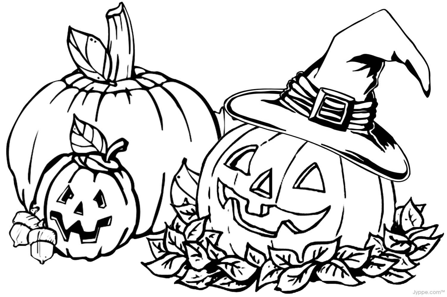 Pumpkin Coloring Pages 1503 X 1000 Halloween B W Clip Art