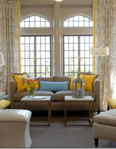 Millneck showhouse contemporary living room new york eileen kathryn boyd interiors also beautiful windows jl pinterest gray window and yellow curtains rh