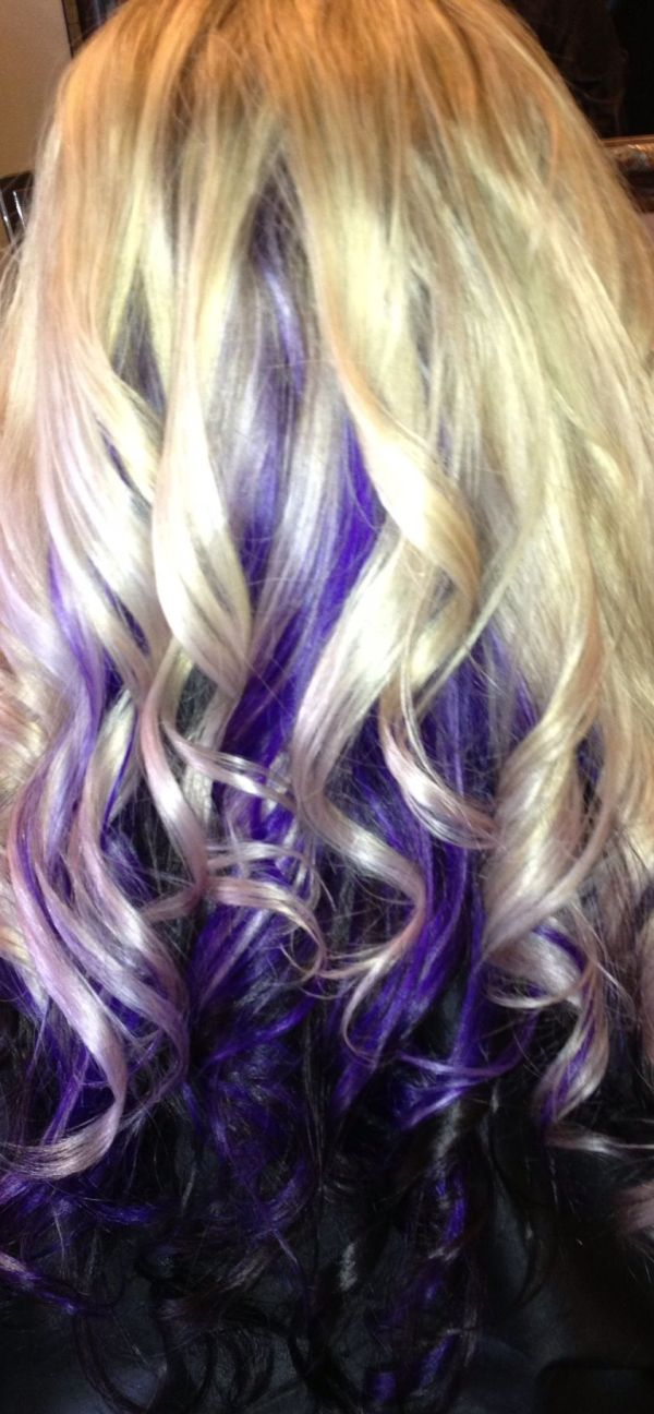 Purple And Black Hair With Blonde Highlights Imgurl