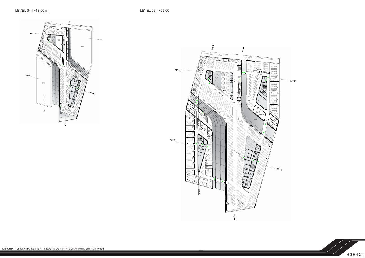 Drawing Of Zaha Hadid S Library And Learning Center For