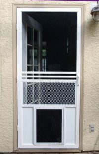 Screen Doors with Dog Door | The Screen Guys | Mobile ...